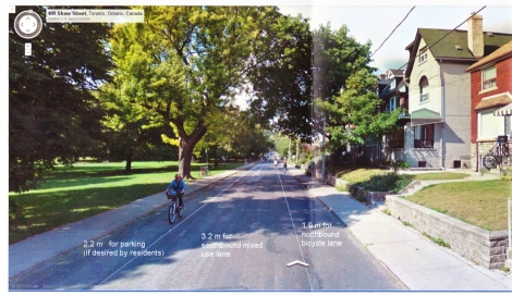 Proposal for bike lane on shaw