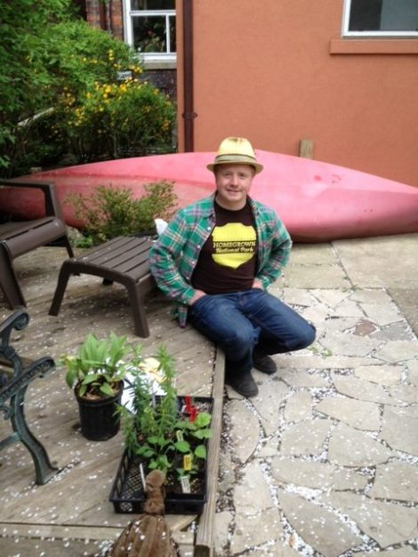 Ranger Aidan with his canoe