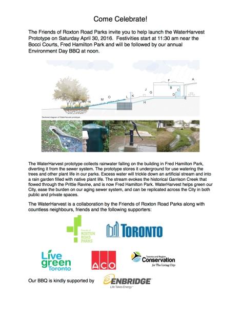 WaterHarvestlaunch invitation