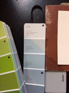 sample of colours for tiles and walls